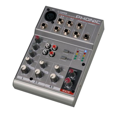 MIXER 5 CANALES AM55 PHONIC
