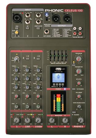 MIXER 5 CANALES BT/MP3/USB CELEUS100 PHONIC
